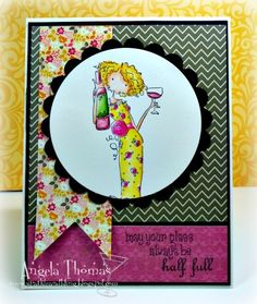 My glass is half full... by jellybean74 - Cards and Paper Crafts at Splitcoaststampers