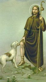 Saint Roch is the patron saint of dogs