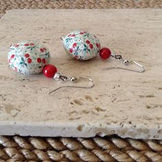 Bowl of Cherries Pin Up style aluminum earrings. See my listings for more Pin Up style jewelry. Visit my Etsy shop for more OOAK items such as necklaces, earrings, and home accessories www.ravenstelltale.etsy.com