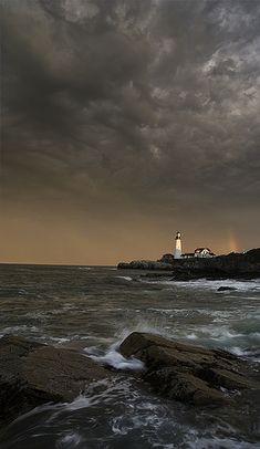 Incoming Storm, Portland Head Light, Cape Elizabeth, Maine
