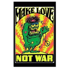 Make Love Not War Psychedelic Poster
