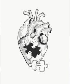 Design by Christian Kunath, Dark Art Drawings, Pencil Art Drawings, Art Drawings Sketches, Christian Drawings, Jesus Art, Anatomy Art, Heart Art, Aesthetic Art, Doodle Art