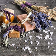 Soaps, body scrubs, body butters, bath salts, and more...