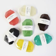 Savon Soap Stones Onyx / Cassia - Pelle - The Conran Shop Soap Packaging, Brand Packaging, Packaging Design, Packaging Ideas, Skincare Packaging, Cosmetic Packaging, Branding Design, Savon Soap, Soapstone