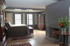 Back in the colonial times, people only needed the necessities and did not have a lot of clutter. This room exemplifies that same thing.