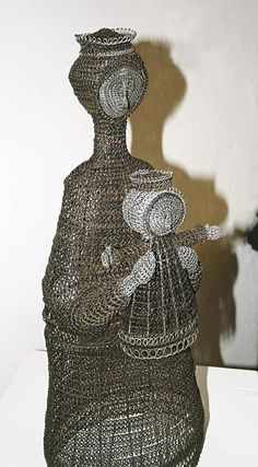 Drotárska (wire art made by tinkers) - photo from INGEMA (Internet Geographic Magazine);  The Považské Museum in Žiliny, Slovakia has a permanent exhibition of tinkers' art.