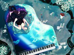 miku under the sky Wallpaper