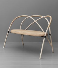 Gemla is the Swedish factory that's been bending wood since the late 1800s.  So how do you create a contemporary sofa out of bent wood? L...