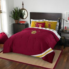 USC Trojans NCAA Bed in a Bag (Contrast Series)(Full)