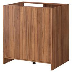 FYNDIG Onderkast met deuren - middenbruin/houtpatroon - IKEA
