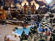 Miniature Christmas Village Displays | Hot Wire Foam Factory - Christmas Alcove Display