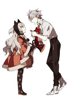 Tags: Anime, Neon Genesis Evangelion, Nagisa Kaworu, Hood, Fur, Trumpet, STAR Shadow Magician, Momoe Nagisa, Madoka Magica