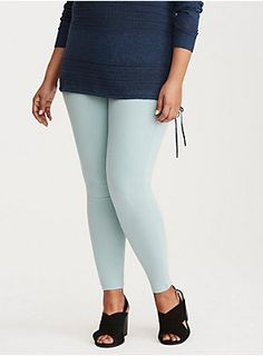 "<div>These mint green leggings will add a shock of color to your look! With the top to bottom fit you love (tapered leg included) and thicker fabric (so cozy). A thicker elastic waistband smooths and flatters your tummy like never before.</div><div><ul><li style=""list-style-position: inside !important; list-style-type: disc !important"">28"" inseam</li><li style=""list-style-position: inside !important; list-style-type: disc !important"">Cotton/spandex</li><li style=""list-style-position: inside…"