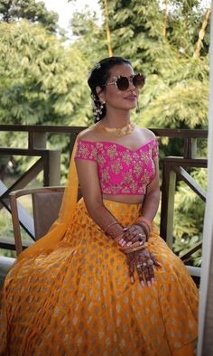 Benares inspired Lehenga Choli Lengha Choli, Colour Combinations, Half Saree, Woman Clothing, Indian Wear, Indian Fashion, Ball Gowns, Ethnic, Bollywood