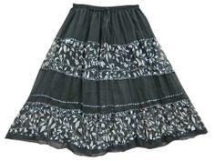 Skirts for Women Black & White Printed Patchwork Georgette Peasant Skirt Mogul Interior,http://www.amazon.com/dp/B00ITNBZ2C/ref=cm_sw_r_pi_dp_q-fgtb1FW7C4ZMJ6