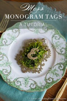 Moss Monogram Tag Tutorial - Celebrating everyday life with Jennifer Carroll