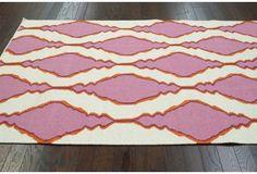 Vine Flat-Weave Rug, Pink