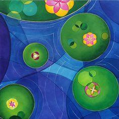 """Lagoa é uma pintura exposta na individual """"Oras bolas. E eu com isso?"""" (BRDE, Florianópolis SC, 2011). Pertence a uma coleção particular de São Paulo SP."""