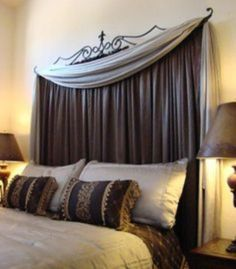 Cheap Master Bedroom Ideas Inspiration Curtain Behind Headboard  Google Search  Home Decoration Ideas Inspiration