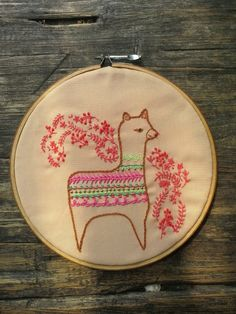 Alpaca by dilla qolbi | Project | Embroidery / Decorative | Kollabora  - CUTE SAMPLER IDEA!