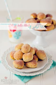 Cinnamon Sugar Nutella filled Soft Pretzel Bites by ©Bakingdom