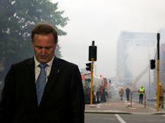 Prime Minister John Key in Christchurch.