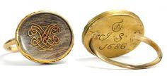 Rare 1686 Stuart Crystal Antique Ring