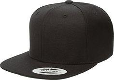 Flexfit Green Under-Visor Original Yupoong Pro-Style Wool Blend Snapback  Snap Back Blank Hat Baseball Cap 6098m - Black 686a1d89faca