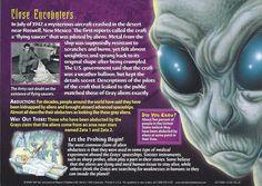 Card 36 - Grey Aliens - Back