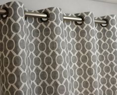 storm grey and white honeycomb drape with blackout lining one grommet top curtain panel 108