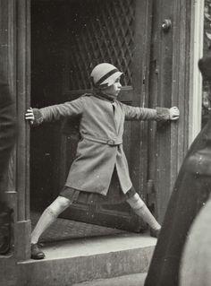 "kafkasapartment: "" Girl Blocking the Doorway, c.1934. Dora Maar. Gelatin silver """