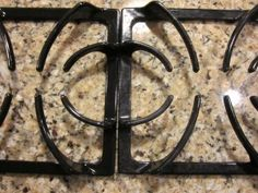 I saw it, I tried it: Cleaning the grates on your gas stove. | Pinching Your Pennies