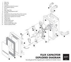 Flux Capacitor Exploded Diagram by trekmodeler.deviantart.com on @DeviantArt