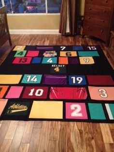 Kelsey's quilt - my first jersey quilt. Ton of fun making this quilt :D