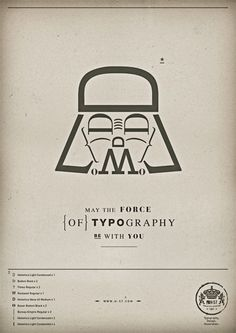 the force of typography by H-57 Creative Station