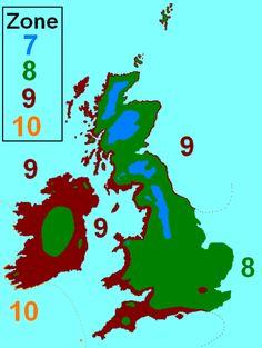 Planting zones uk
