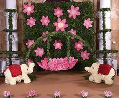 Struggling for ideas for the baby naming ceremony decoration? Remarkable cradle ceremony decoration & themes to make your little one's day memorable. Desi Wedding Decor, Wedding Stage Decorations, Backdrop Decorations, Diwali Decorations, Festival Decorations, Baby Shower Decorations, Flower Decorations, Housewarming Decorations, Backdrops