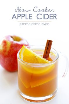 Slow Cooker Apple Cider -- super easy to make, and all natural! | gimmesomeoven.com