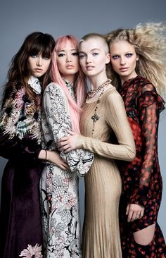 Grace Hartzel, Fernanda Ly, Ruth Bell & Frederikke Sofie by Patrick Demarchelier for Vogue China July 2016