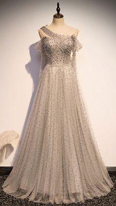 Gray Formal Dress, Grey Party Dresses, Gray Dress, Prom Dresses, Formal Dresses, Wedding Dresses, Long Dresses, Formal Wear, 19 Days