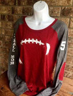 Football Laces T-Shirt Football mom shirt Long Sleeve preppy Baseball Mom ecc347b8b