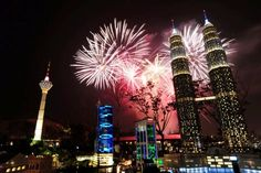 Fireworks explode over Lego versions of the Petronas Towers and Kuala Lumpur Tower at Legoland Malaysia's opening.  (Credit:  Legoland Malaysia)