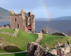 Urquhart Castle.  The Castle Frank & Claire saw on thier day trip to the Great Glen of Loch Ness.