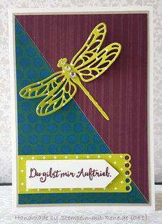 Glückwunschkarten - Grußkarten Set ST 041 Libellen / Orientpalast - ein Designerstück von Bastelfan1809 bei DaWanda