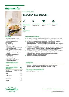 Salatka tabbouleh Juice Plus, Aga, Make It Simple, Snacks, Cooking, Kitchen, Recipes, Food, Thermomix