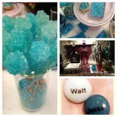 Breaking Bad party ideas (hahaha a meth themed party.does that strike anyone else as kind of wrong? Breaking Bad Birthday, Breaking Bad Party, Breaking Bad Cupcakes, Breking Bad, 30th Birthday, Birthday Parties, Dinner Themes, Candy Bouquet, Bar Drinks