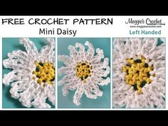 Maggie's Crochet · Mini Daisy - Free Crochet Pattern  ✿⊱╮Teresa Restegui http://www.pinterest.com/teretegui/✿⊱╮