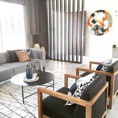 Ethnicraft armchairs and GlobeWest Felix Square Sofa  Image: @frostedbyamy   #globewest #furniture #livingroom #interiordesign