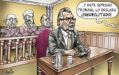 El trazo de Carlín sobre la desconcertante sentencia del Tribunal Supremo contra el magistrado Baltasar Garzón en Españap.