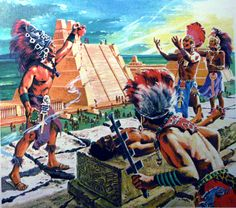 "Aztec Ritual Sacrifice...sad little victims of  ""whites"" (you mean the SPANISH.) Because they should have been left alone to butcher their children?"